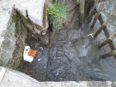Remont doprowadzenia wody na stawy w Kobylance